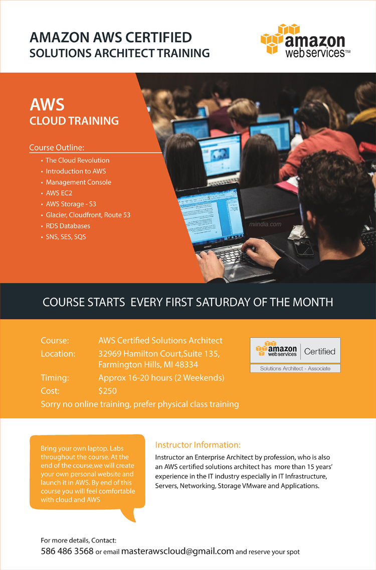 aws cloud training amazon aws certified solutions