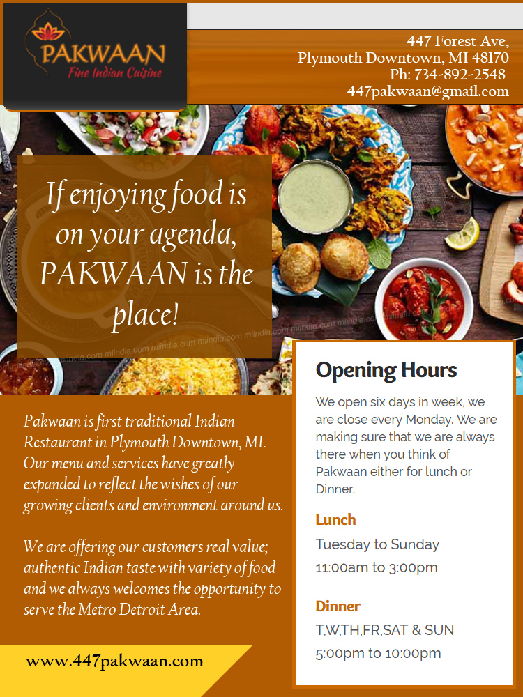 Pakwaan Fine Indian Cuisine in Detroit Michigan