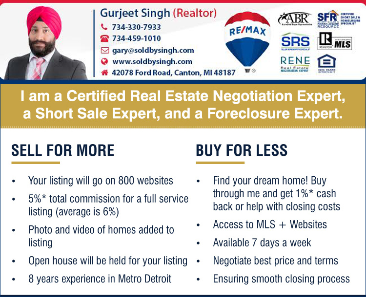 Gurjeet Singh, Realtor in Detroit, Michigan