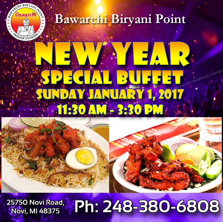 new year special buffet bawarchi biryani point in detroit michigan. Black Bedroom Furniture Sets. Home Design Ideas