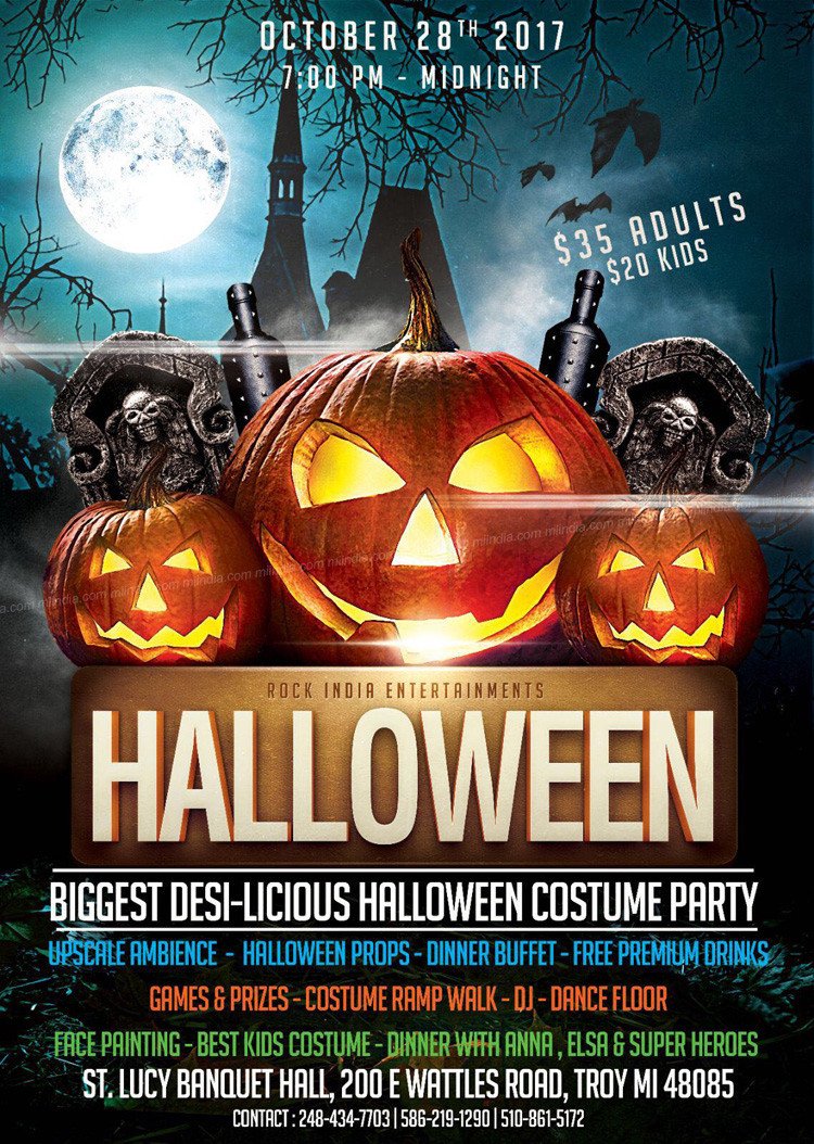 rock india presents biggest desi-licious halloween party in troy