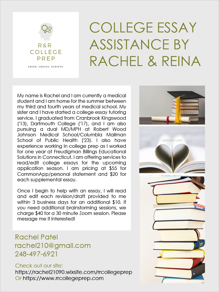 College Prep assistance by Rachel and Reina