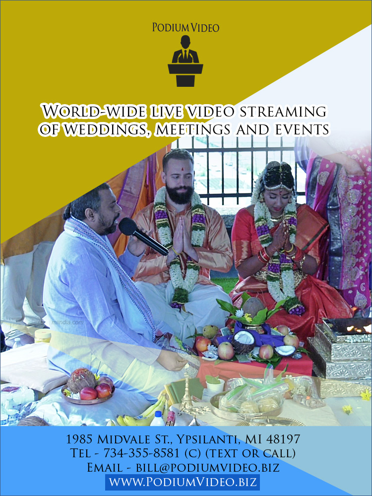 Live video streaming of weddings, meetings and events