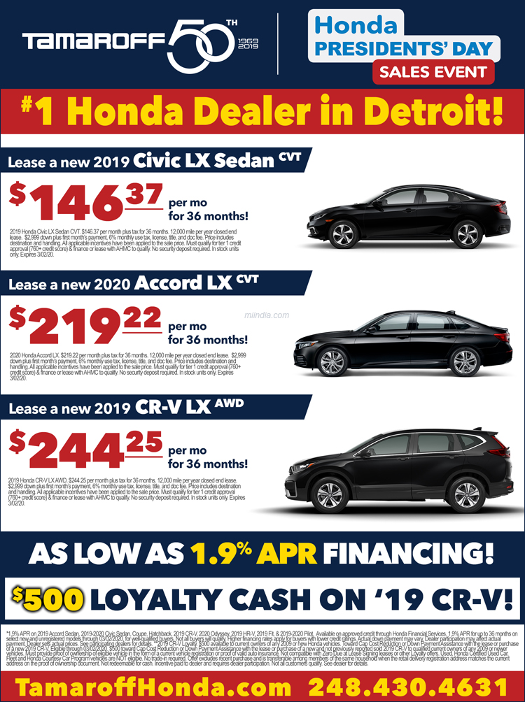 Tamaroff - #1 Honda Dealer in Michigan