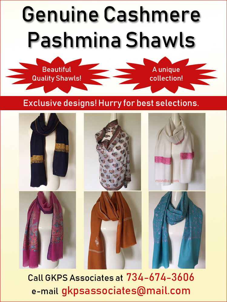 Genuine Cashmere Pashmina Shawls in Michigan