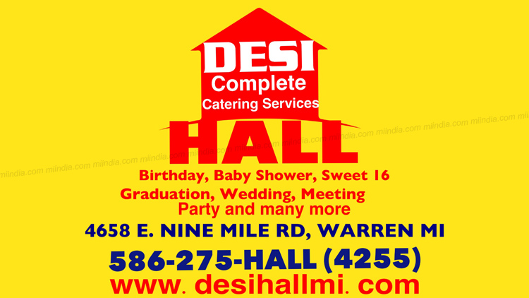 Desi Hall in Michigan - Complete Catering Services