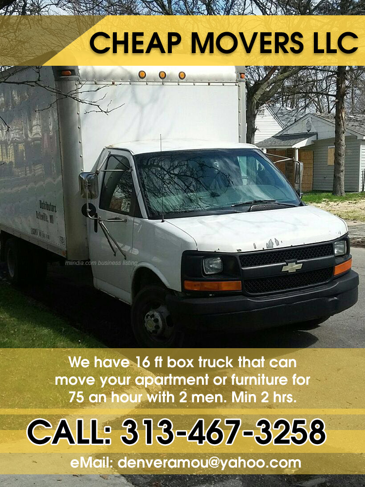 Cheap Movers LLC in Detroit, Michigan