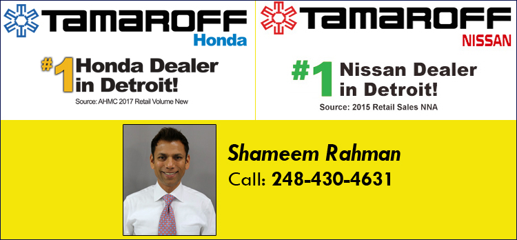 Tamaroff Honda Dealer in Michigan