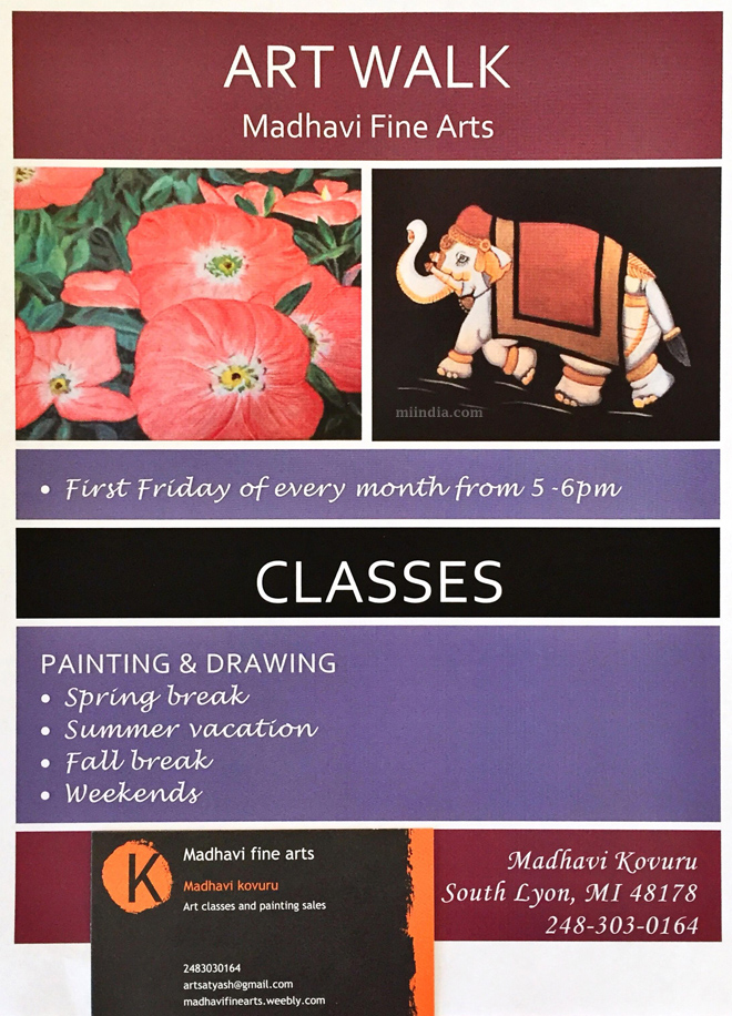 Art classes and painting sales in Michigan