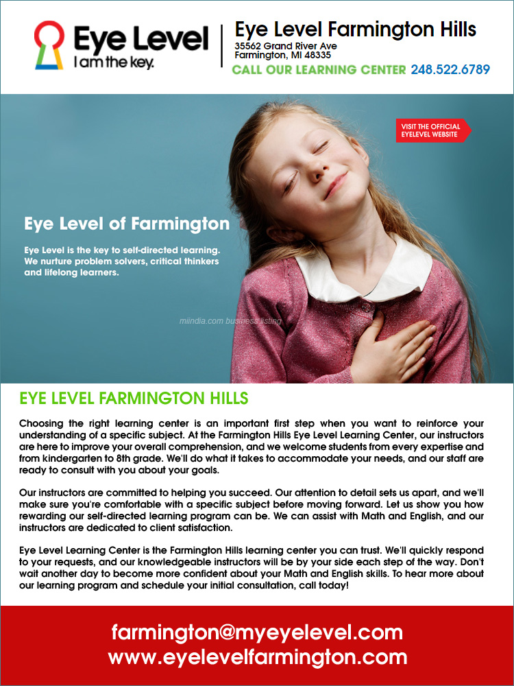 Eye Level Learning Center in Farmington Hills