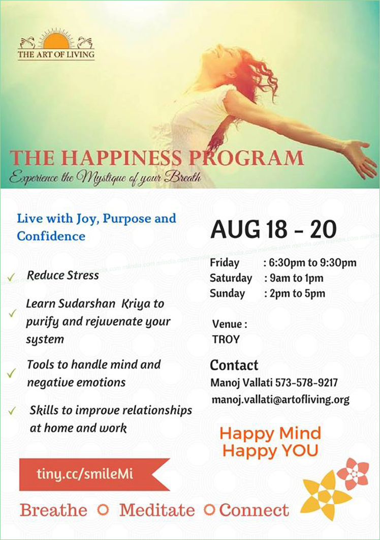 art of living happiness program sudarshan kriya in michigan