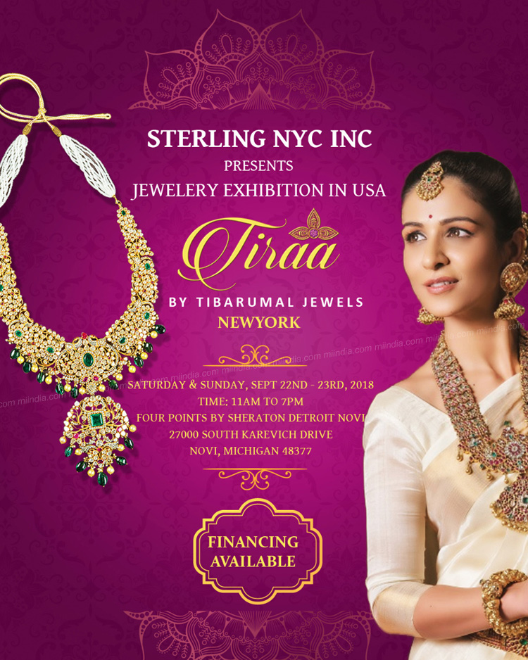 Tiraa Jewelery Exhibition In Novi Michigan